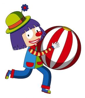 Szczęśliwy klaun z beachball
