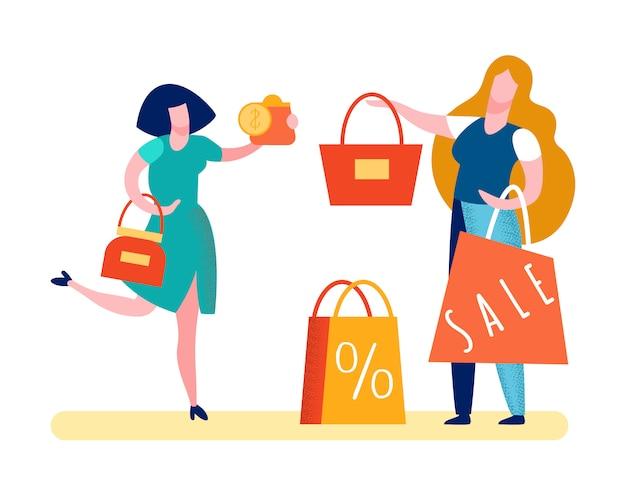 Szczęśliwy klient płaci pieniądze ilustrację