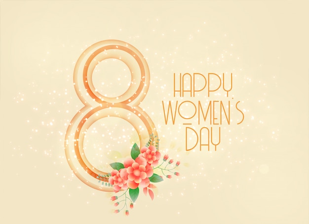 Szczęśliwy kobiet dzień marszu 8th tło