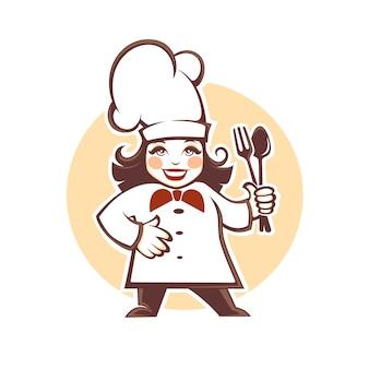 Szczęśliwy kreskówka kucharz