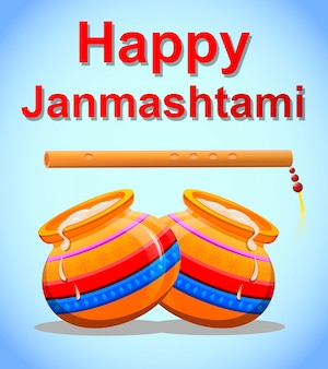 Szczęśliwy kryszna janmashtami