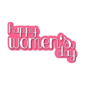 Szczęśliwy liternictwo dzień kobiet