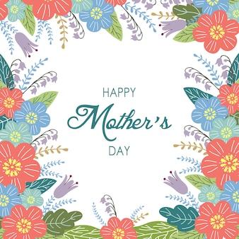 Szczęśliwy matka dnia tło z kwiatami