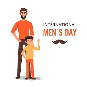 Szczęśliwy międzynarodowy dzień mężczyzn