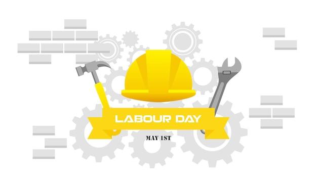 Szczęśliwy międzynarodowy dzień pracy pracowników labor