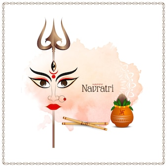Szczęśliwy navratri hinduski festiwal elegancki wektor tła