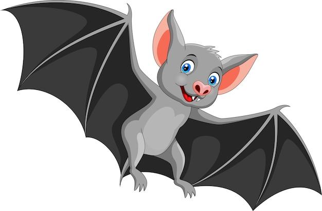 Szczęśliwy nietoperz kreskówka latający