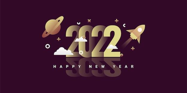 Szczęśliwy nowy projekt szablonu ilustracji 2022 20
