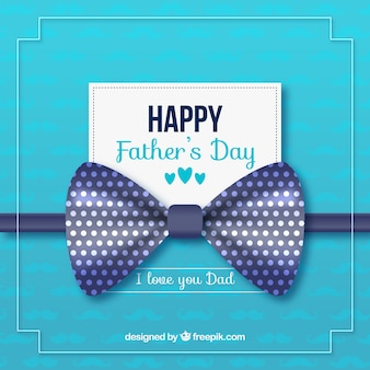 Szczęśliwy ojca dnia tło z błękitnym faborkiem