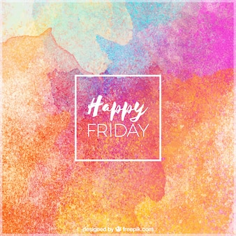Szczęśliwy piątek, tło z akwarelami