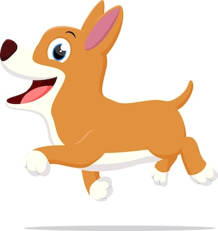 Szczęśliwy pies kreskówka działa