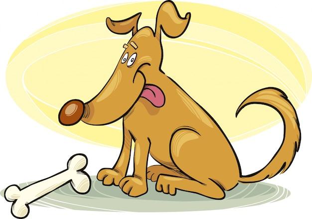 Szczęśliwy pies z kością