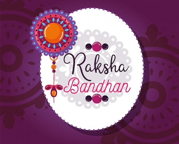 Szczęśliwy plakat raksha bandhan
