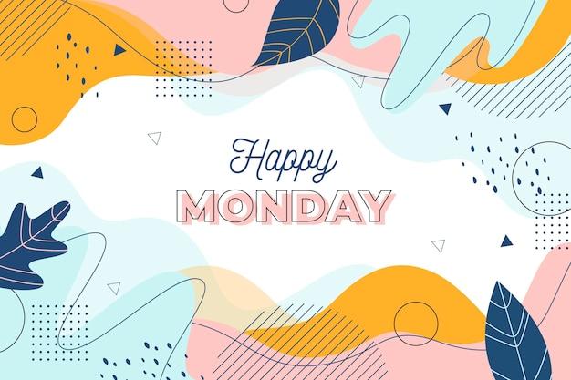 Szczęśliwy poniedziałek memphis tło