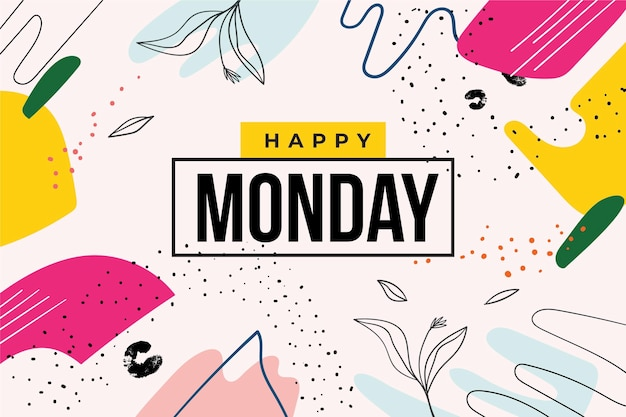 Szczęśliwy poniedziałek tło z kropkami
