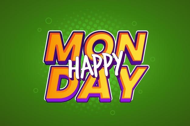 Szczęśliwy poniedziałek zielone tło