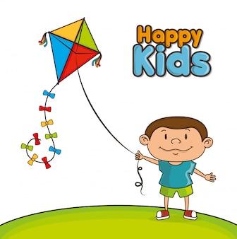 Szczęśliwy projekt dla dzieci