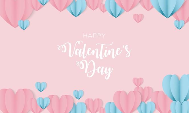 Szczęśliwy projekt tła Valentine's Day