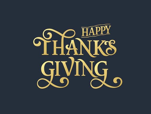 Szczęśliwy projekt typografii święto dziękczynienia