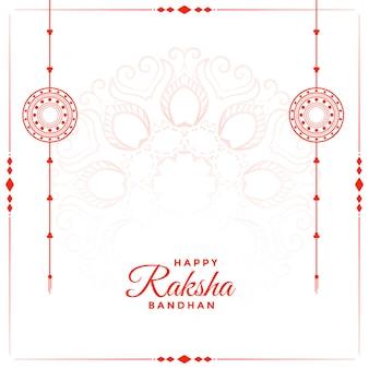 Szczęśliwy raksha bandhan festiwalu tło z tekst przestrzenią