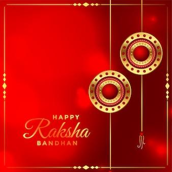 Szczęśliwy raksha bandhan indyjski festiwal piękne życzenia projekt karty