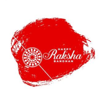 Szczęśliwy raksha bandhan streszczenie czerwonym tle