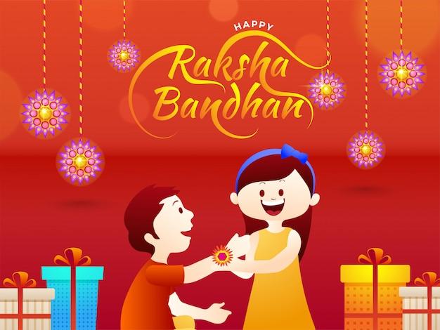 Szczęśliwy raksha bandhan świętowania tło.