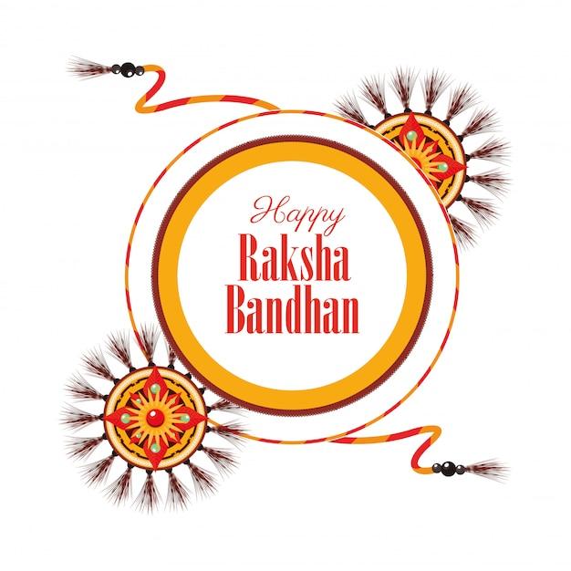 Szczęśliwy raksha bandhan świętowanie z kolorów proszków ilustracyjnym projektem