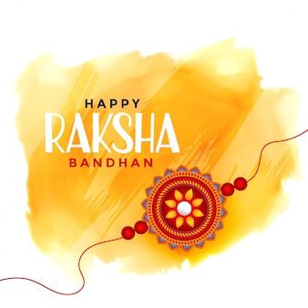 Szczęśliwy raksha bandhan tła akwarela