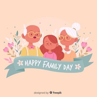 Szczęśliwy rodzinny dzień