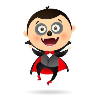 Szczęśliwy śmieszny wampir