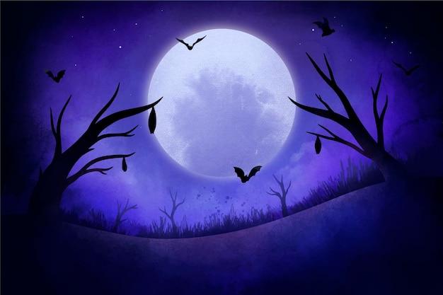 Szczęśliwy styl tła halloween
