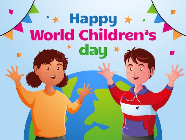 Szczęśliwy światowy dzień dziecka