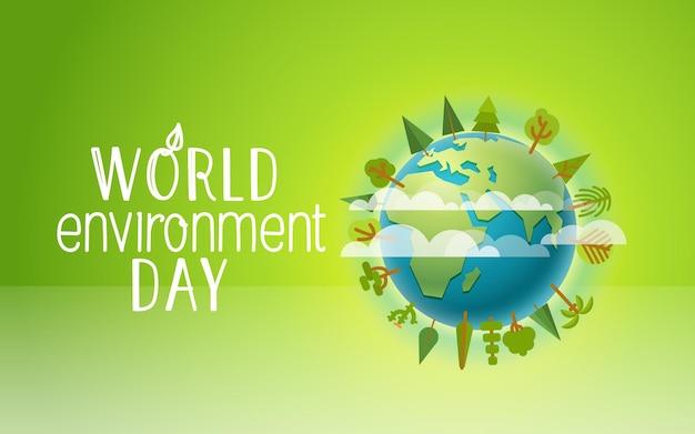 Szczęśliwy światowy dzień ochrony środowiska.