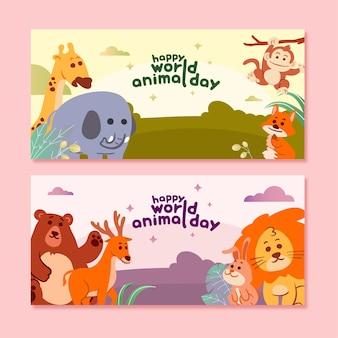 Szczęśliwy światowy dzień zwierząt