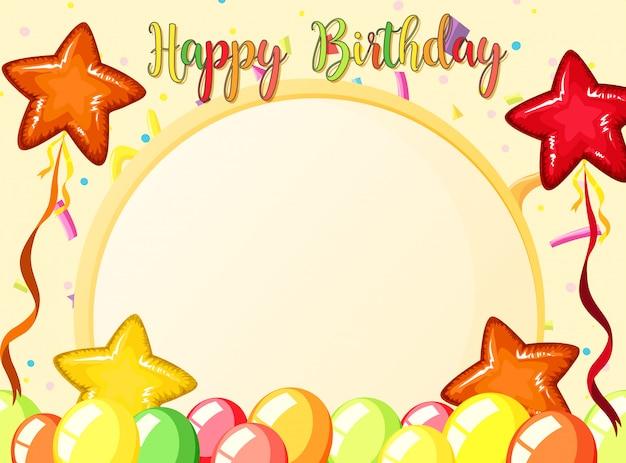 Szczęśliwy szablon karty urodziny