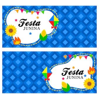 Szczęśliwy szablon transparentu festa junina