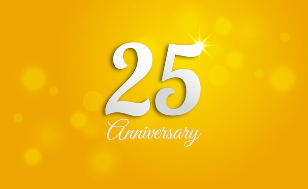 Szczęśliwy tło 25 rocznicy.