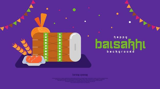 Szczęśliwy tło baisakhi