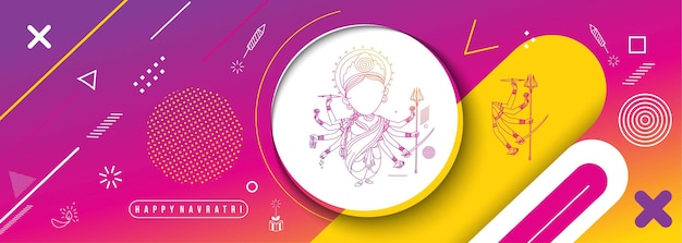 Szczęśliwy tło durga puja bogini durga hinduski festiwal shubh navratri lub durga pooja.