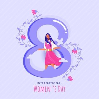Szczęśliwy tło dzień kobiet