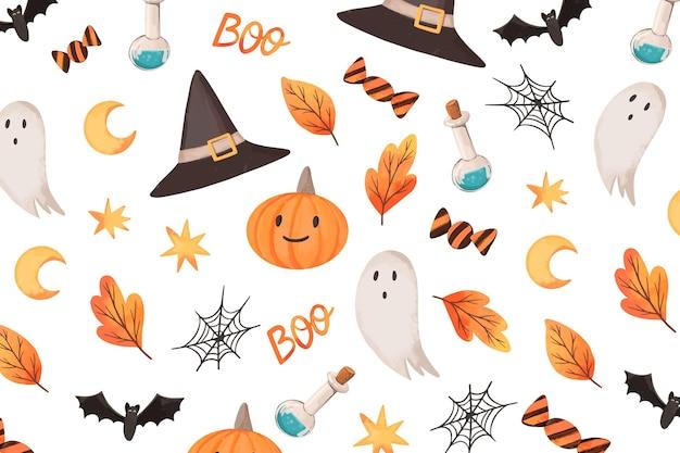 Szczęśliwy tło halloween.