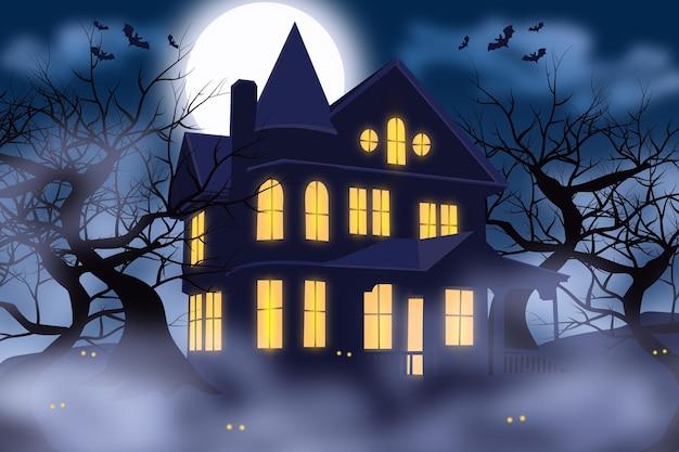 Szczęśliwy tło halloween
