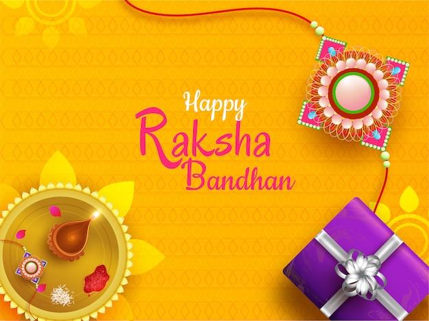 Szczęśliwy tło uroczystości raksha bandhan.