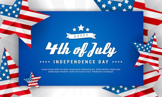 Szczęśliwy transparent 4 lipca