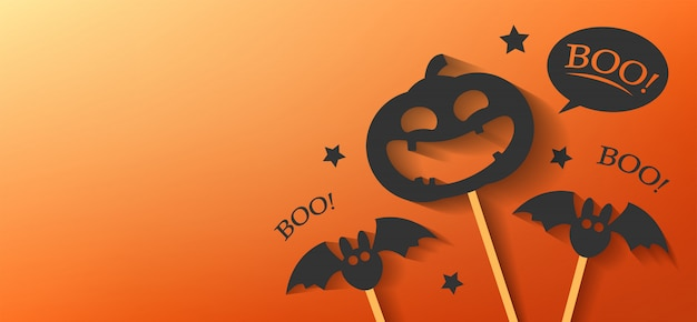 Szczęśliwy transparent dzień halloween