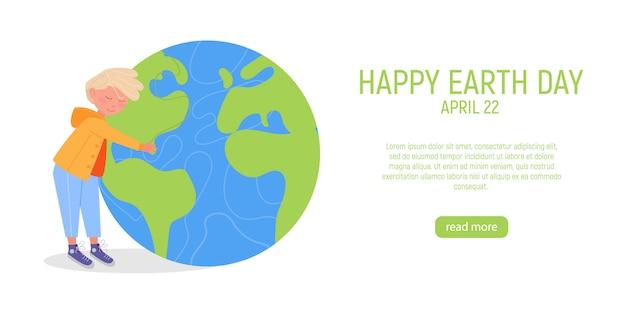 Szczęśliwy transparent dzień ziemi