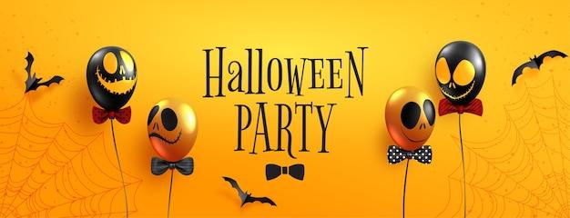 Szczęśliwy transparent halloween party