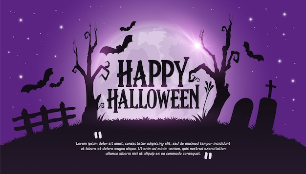 Szczęśliwy transparent halloween