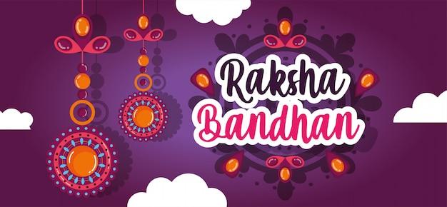 Szczęśliwy transparent raksha bandhan
